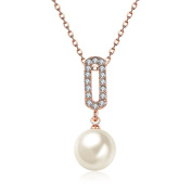 Freshwater Cultured Pearl Necklace Gift For Women Girl 18ct Gold Plated