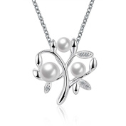 Tree of Life Freshwater Cultured Pearl Pendant Necklace 925 Sterling Silver Plated Christmas Birthday Gift For Women Girl