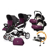 Cart Gemelar Casualplay Match 2 stwinner + Chairs Group 0 + Baby + Bases Chairs Group 0 + Baby + Bag 3.4m5 kg Plum