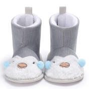 Shoes For 0-18 Months Newborn Baby, Mingfa Winter Warm Booties Girl Boy Infant Toddler Cotton Soft Sole Snow Boots Crib Shoes First Walkers