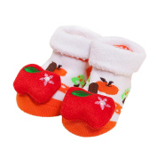 Falaiduo Newborn Baby Girls Boys Anti-Slip Socks Slipper Shoes Boots For 0-12months