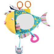 Baby Car Mirror, KAKIBLIN Baby Car Seat Mirror Shatterproof Safe Rear-Facing Car Baby Mirror Fish Shaped Clear View Baby Car Seat Mirror