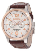 Invicta Men's 13010 I-Force Stainless Steel Watch with Brown Leather Band Inv...