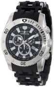 "Invicta Men's 350cm Sea Spider Collection"" Stainless Steel and Black Polyurethane Watch"