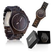 Men's Unique Luxury Wristwatch Casual Wooden Quartz Watches Fashion Natural Wood Watch - Dark Brown