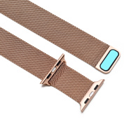 Watch Band Magnetic Closure Clasp Mesh Loop Bracelet Strap for Apple Watch 42mm Rose Gold