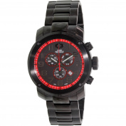 Swiss Precimax Marauder Pro Men's Black Stainless-Steel-Band Sapphimax-Crystal Swiss Chronograph Watch
