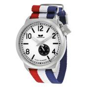 Vestal Canteen Zulu White Dial Striped Nylon Strap Mens Watch CAN3N01