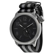 Vestal Canteen Zulu Black Dial Striped Nylon Strap Mens Watch CAN3N02