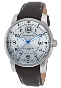 Ben & Sons 10006-02S West Side Black Genuine Leather Silver-