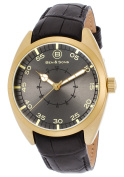 Ben & Sons 10014-AN-014 Voyager Black Genuine Leather and Di