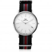 Territory Men's Round Face Strap Fashion Watch, Red