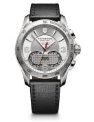 Victorinox Swiss Army Mens Chrono Classic 1/100 - Date - Black Leather Strap