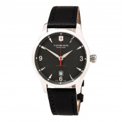 Swiss Army 241668 Men's Alliance Black Dial Black Leather Strap Mechanical Automatic Watch