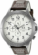 Men's Armani Exchange Aeroracer Dark Brown Strap Chronograph Watch AX1757