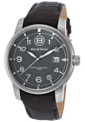 Ben & Sons 10006-014 West Side Black Genuine Leather Grey Di