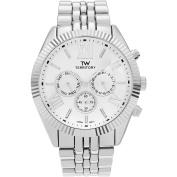 Territory Men's Chronograph Roman Numeral Dial Link Bracelet Fashion Watch, White
