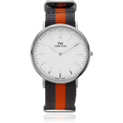 Territory Men's Round Face Strap Fashion Watch, Orange