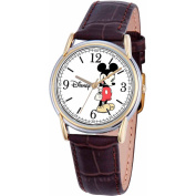 Disney Mickey Mouse Men's Cardiff Watch, Brown Strap