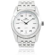 Territory Men's Round Face Classic Quartz Link Fashion Watch, Silver