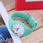 Fashion Men Women Silicon Strap Round Dial Sport Leisure Wrist Watch Jewellery