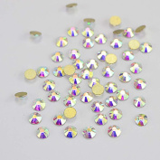 MZP 1 Box Mix 3D Glass Rhinestone Clear Colour Crystal AB Colour Golden Flat Bottom Glitter Rhinestone Nail Art Decorations Set Nail DIY Beauty Accessories