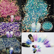 MZP 4Bottles/Set Summer Hot Fashion Colourful Nail Art Hexagon Shining Sequins Sweet Style Flash Mermaid Paillette Nail Salon DIY Beauty Decoration TL