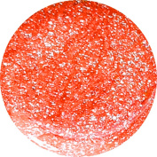 Neon Glitter Glam Nail Art UV Gel 5 ml), Cyn + Neon Coral 5% Pure Silver Offset + + WITH.