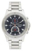 Seiko Men's Chronograph Watch Watch Quartz Hardlex Crystal SPC093