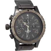 Nixon 48-20 Chrono A486632 Gunmetal Dial Men's Stainless Steel Watch