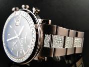 Gucci Mens Brown Metal Band Diamond Gucci Watch 6 Ct