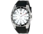 Tommy Hilfiger Men's Sports Silicon Strap Analogue Quartz Watch - White & Black - 1790884