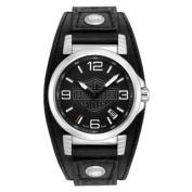 Harley-Davidson Men's Bulova Ghost Bar & Shield Wrist Watch. 76B163, Harley Davidson