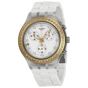 Swatch SVCK4067AG Full Blooded Silver Metal Bracelet With White Analogue Dial NWT
