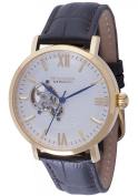 Rudiger Men's R3500-02-001 Stuttgart Automatic Gold IP Brown Leather Wristwatch