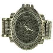 Black Finish Simulated Diamond Solid Steel Techno Pave Joe Rodeo Mens Watch Sale