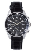 Rudiger Men's R2001-04-007L Chemnitz Chronograph Black Leather Date Wristwatch