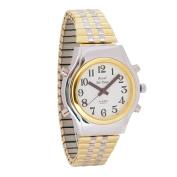 Mens Spanish Royal Tel-Time Bi-Colour Talking Watch- Expansion Band