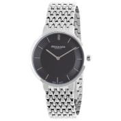 Rudiger Men's R2400-04-007B Kassel Black Dial Polished Stainless Steel Watch