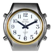 Mens Spanish Royal Tel-Time Bi-Colour Talking Watch-Expansion Band
