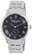 Rudiger Mens R3000-04-007 Leipzig Stainless Steel Black Dial Roman Numeral Watch