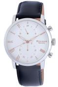 Rudiger Men's R2300-04-001.09 Bavaria White Dial Black Leather Wristwatch