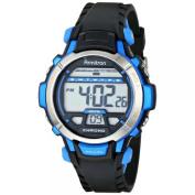 Armitron Sport Unisex 45/7036BLU Blue Accented Digital Chronograph Black Resin Strap Watch