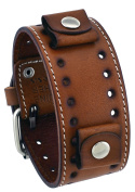 Nemesis STH-B Brown Wide Leather Cuff Watch Wrist Band