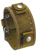 Rev #CHO-G Crazy Horse Leather 22mm Lug Width Wide Golden Brown Cuff Watch Band