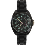 Black - Tactical Military Style Silicone Strap Watch