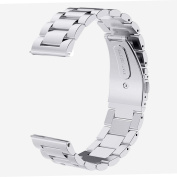 Stainless Steel Link Bracelet Watch Band With Butterfly Buckle For Huawei Watch, Huawei Watch Jewel, Withings Activit, Withings Steel HR 36mm :