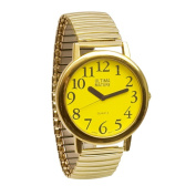 Ultima Mature Low Vision Unisex Watch- Yellow Face