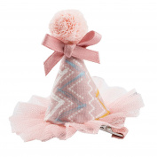 JasmineLi Lovely Mesh Ball Hat Shape Hairpin Headband for Children Girls Baby Hair Clips Ornament