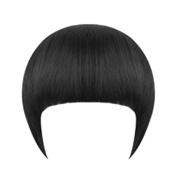 LUFA Girl's Clip On/In Neat Bang Straight Fake Fringe For Bob Hair Style
